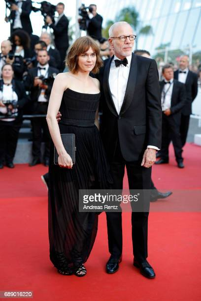 Marie Josee Croze and Pascal Greggory attend the 'Based On A True Story' screening during the 70th annual Cannes Film Festival at Palais des...