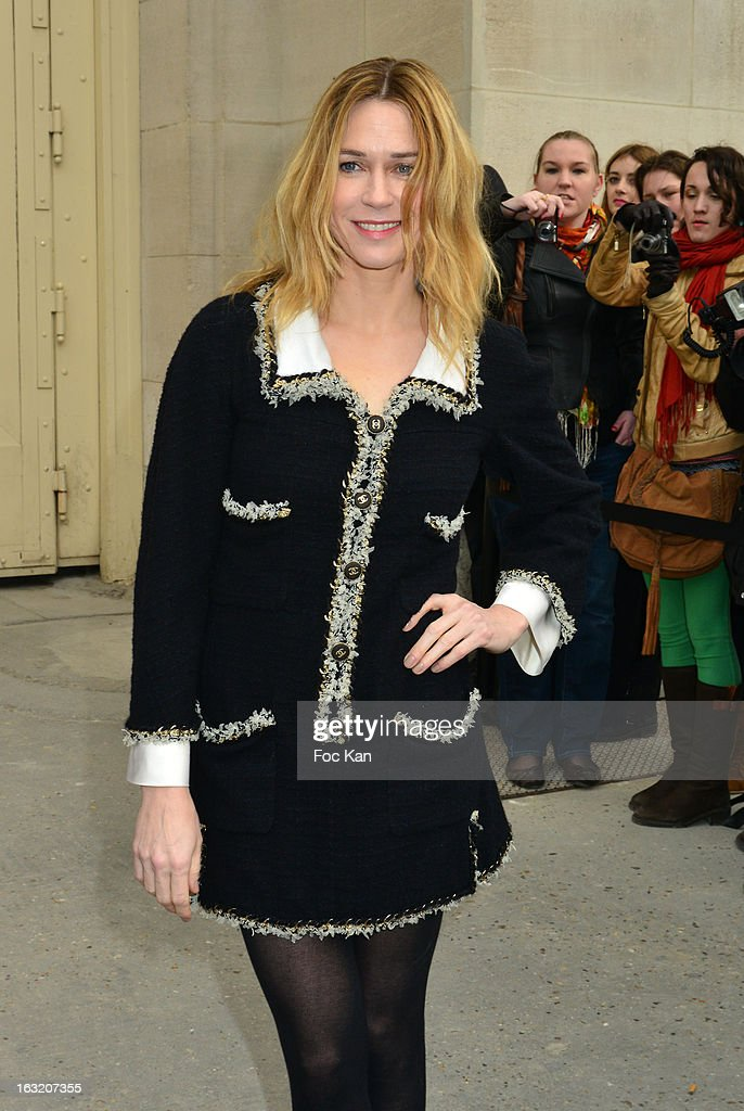 Marie Josee Croze attends the Chanel Fall/Winter 2013 Ready-to-Wear show as part of Paris Fashion Week at the Grand Palais on March 5, 2013 in Paris, France.