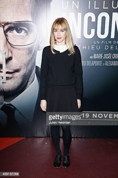 Marie Josee Croze attends 'Un Illustre Inconnu' Paris Premiere at Cinema Gaumont Capucine on November 17 2014 in Paris France
