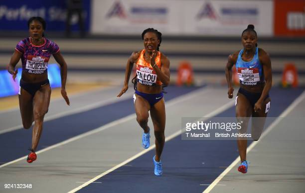 Marie Josee Ta Lou of Ivory Coast winning the Women's 60 meters during the Muller Indoor Grand Prix event on the IAAF World Indoor Tour at the...