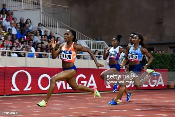 Marie Josee Talou of Ivory Coast women's 200m during the IAAF Diamond League Meeting Herculis on July 21 2017 in Monaco Monaco