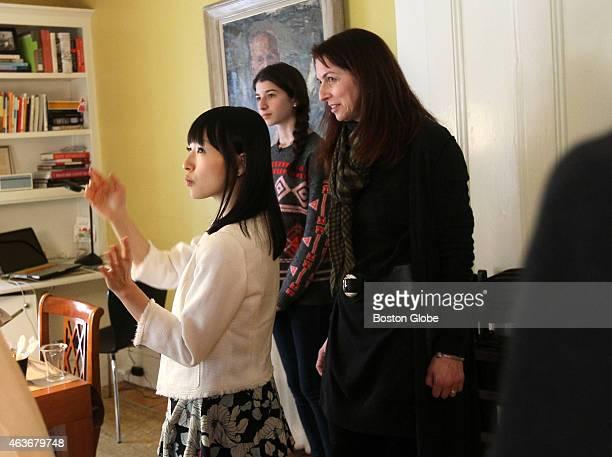 Marie Kondo zen tidiness guru speaks in Japanese through an interpreter tells Claduia Logan and her daughter Otti there is much joy in their dining...