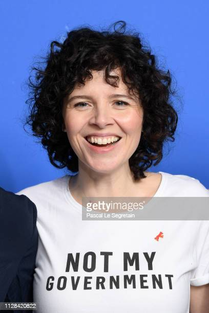 Marie Kreutzer poses at the The Ground Beneath My Feet photocall during the 69th Berlinale International Film Festival Berlin at Grand Hyatt Hotel on...