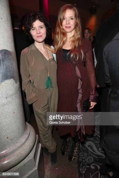 Marie Kreuzer and Pheline Roggan pregnant during the BUNTE BMW Festival Night 2017 during the 67th Berlinale International Film Festival Berlin at...