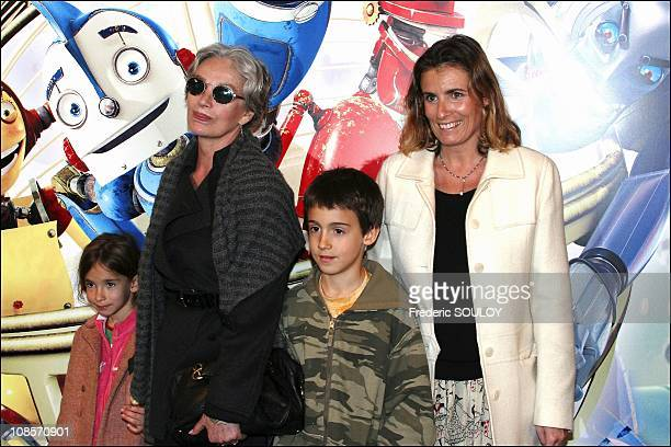 Marie laforand with family in Paris France on March 29 2005