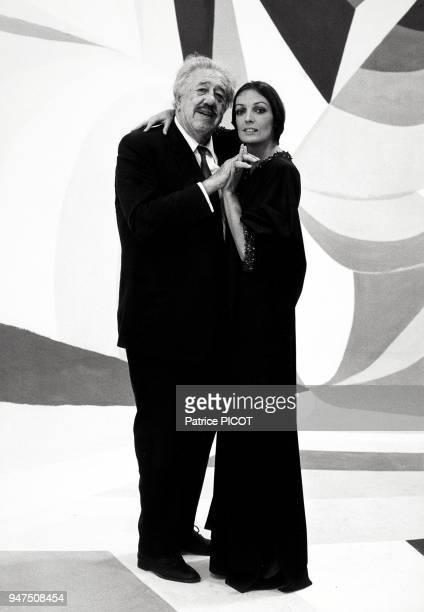 Marie Laforet et Michel Simon, show télé, octobre 1969.