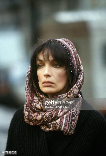 Marie Laforet in Movie Tangos L Exil de Gardel, Paris, February 5, 1985.