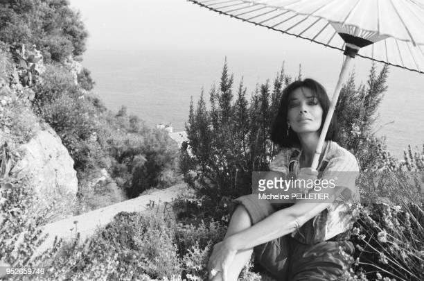 Marie Laforet on holidays.
