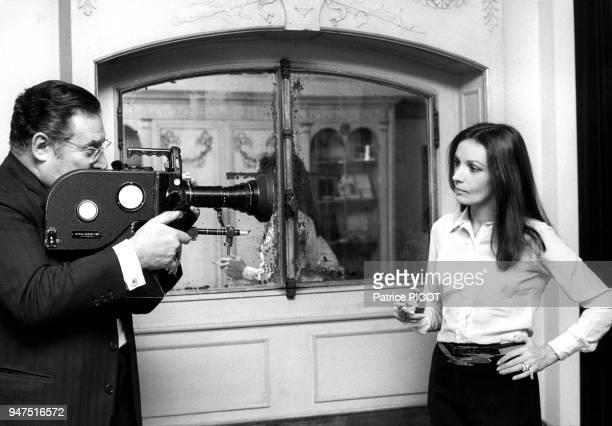 Marie Laforêt et Léon Zitrone décembre 1971