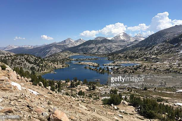 marie lake - john muir trail stock photos and pictures