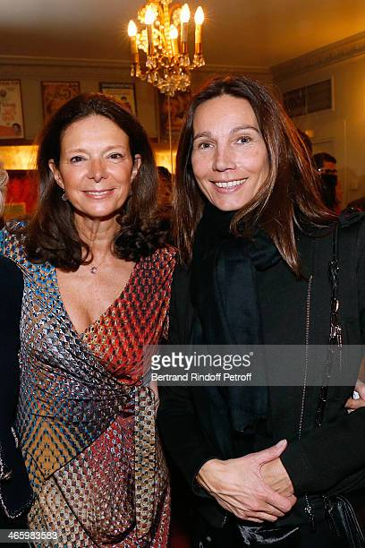 Marie Laure Mine and Princess Ariane Poniatowski attend 'Un Temps De Chien' Theater Gala Premiere to Benefit ARSEP Foundation Held at Theatre...