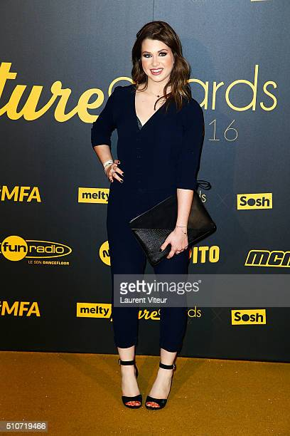 Marie Lopez aka Enjoyphoenix attends The Melty Future Awards 2016 Ceremony at Le Grand Rex on February 16 2016 in Paris France