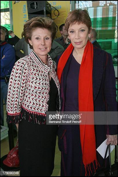 Marie Louise De Clermont Tonnerre and Brigitte Lefevre at Pompidou Foundation Award Ceremony For The Chevalier de la Legion d'Honneur To Bernadette...