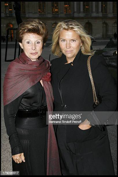 Marie Louise De Clermont Tonnerre and Valerie Duport at Exhibition Xavier Veilhan's Sculptures Displayed In The Royal Court Gardens Of Chateau De...