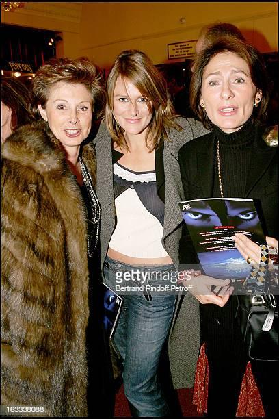Marie Louise De Clermont Tonnerre Julie De Noailles and Sa Mere Nadege De Noailles at the Paris Premiere Of Matthew Bourne's Swan Lake At Theatre...