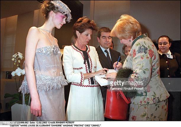 Marie Louise De Clermont Tonnerre Mrs Poutine at Chanel