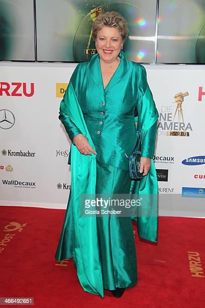 Marie Luise Marjan attends the Goldene Kamera 2014 at Tempelhof Airport Hangar 7 on February 1 2014 in Berlin Germany