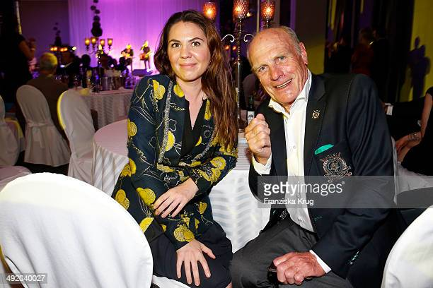 Marie Luise von Sachsen and Rudi Altig attend the 'Camp David Eagles Hauptstadt Golf Cup' Gala at Van der Valk Hotel Berlin Brandenburg on May 18...