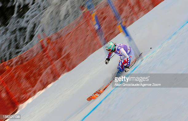 Marie MarchandArvier of France during the Audi FIS Alpine Ski World Cup Women's SuperG on February 5 2012 in GarmischPartenkirchen Germany
