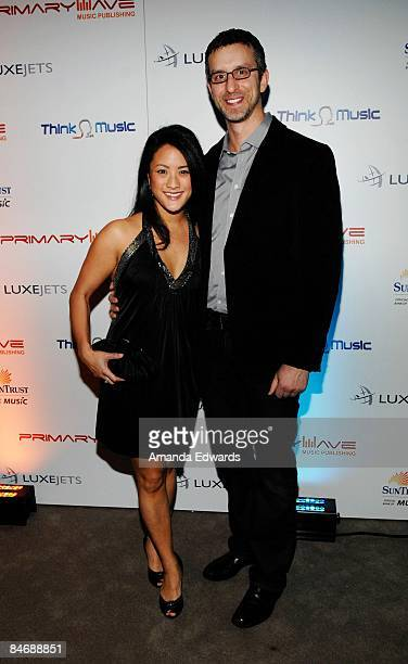 Marie Martinez and Davis Israelite attend the Primary Wave Music Publishing preGrammy party at SLS Hotel on February 7 2009 in Los Angeles California