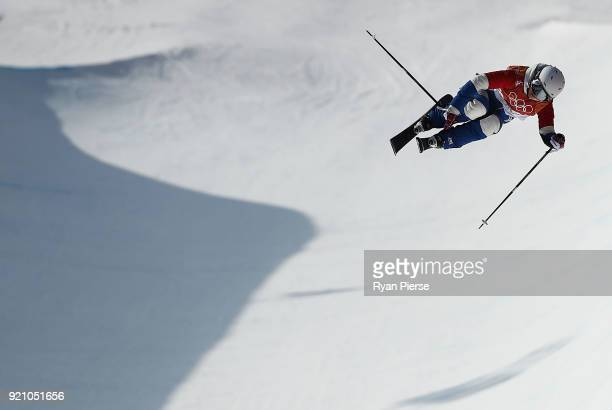 Marie Martinod of France competes during the Freestyle Skiing Ladies' Ski Halfpipe Final on day eleven of the PyeongChang 2018 Winter Olympic Games...