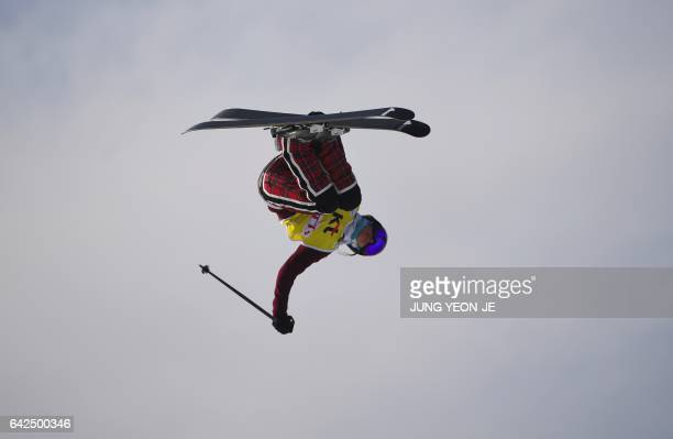 Marie Martinod of France competes during the women's Halfpipe final event of the FIS Freestyle Ski World Cup at Phoenix Snow Park in Pyeongchang on...