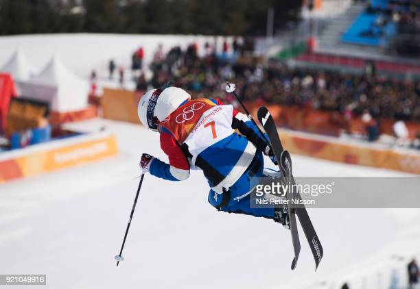 Marie Martinod of France during the women's Halfpipe Freestyle Skiing at Phoenix Snow Park on February 20 2018 in Pyeongchanggun South Korea