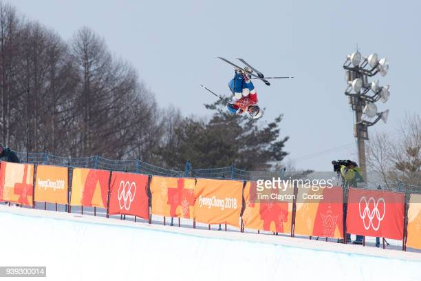 Marie Martinod of France in action on her final run while winning the silver medal during the Freestyle Skiing Ladies' Ski Halfpipe Final at Phoenix...