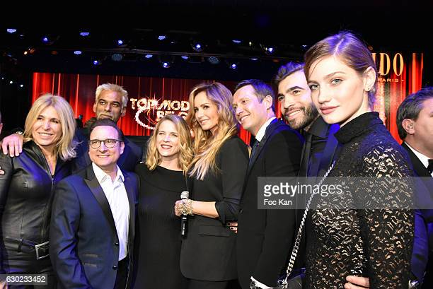 Marie Mesnager Adriana Karembeu Jean Marc Genereux Gian Marco Tavani Marine Dauchez Satya Oblette and guests attend the 'Top Model Belgium 2017'...