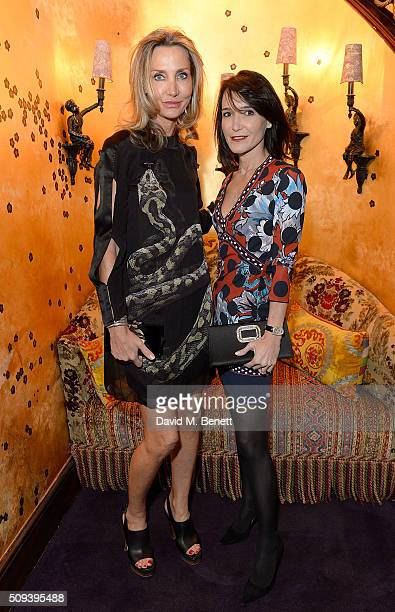 Marie Moatti and guest attend the Kilian Boutique Launch Party at Loulou's on February 10 2016 in London England