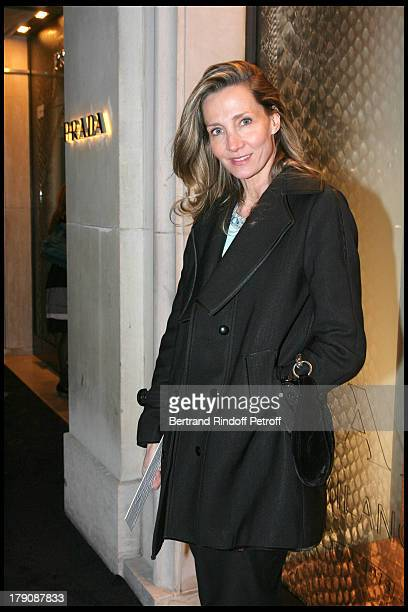Marie Moatti at Party For The Opening Of The Prada Boutique Avenue Montaigne