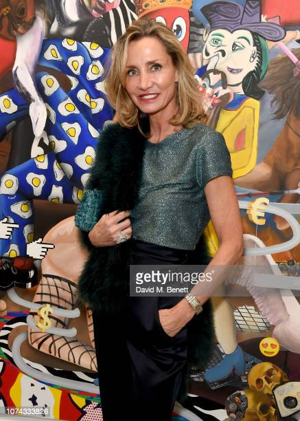 Marie Moatti attends the Philip Colbert Hunt Paintings private view presented by Unit London at Saatchi Gallery on December 17 2018 in London England