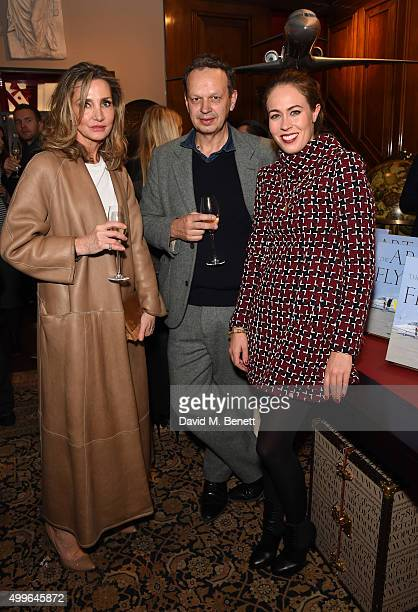 Marie Moatti Tom Dixon and Nina Flohr attend 'The Art Of Flying' book launch reception at Maison Assouline on December 2 2015 in London England