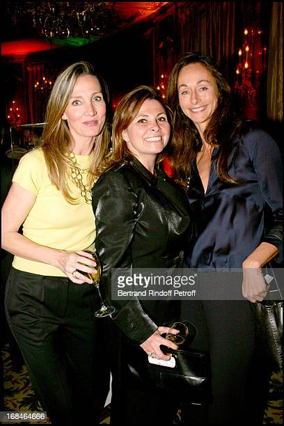 Marie Moatti Valerie Cueto and Marianne Orlowski at Celine Party For The Poublot Charity Artwork For The Benefit Of The Association Children's Dreams
