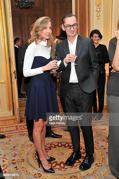 Marie MoattiBruno Frisoni attend an evening to celebrate the Roger Vivier RendezVous SpringSummer 2013 limited edition collection on January 28 2014...