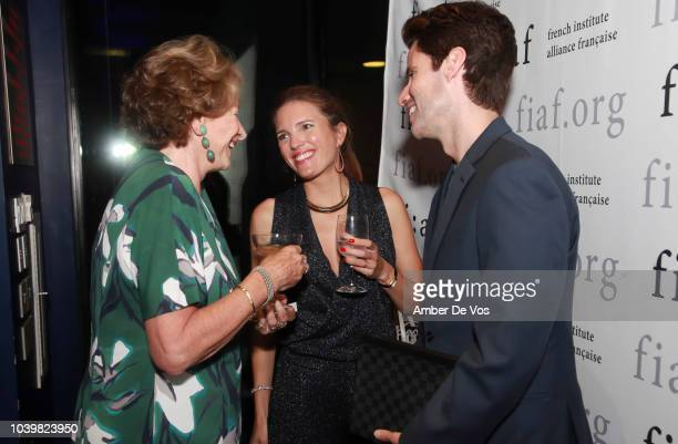 Marie Monique Steckel Clemence von Mueffling and James G Brooks attend the FIAF's Young Patrons Fall Fete at FIAF on September 24 2018 in New York...