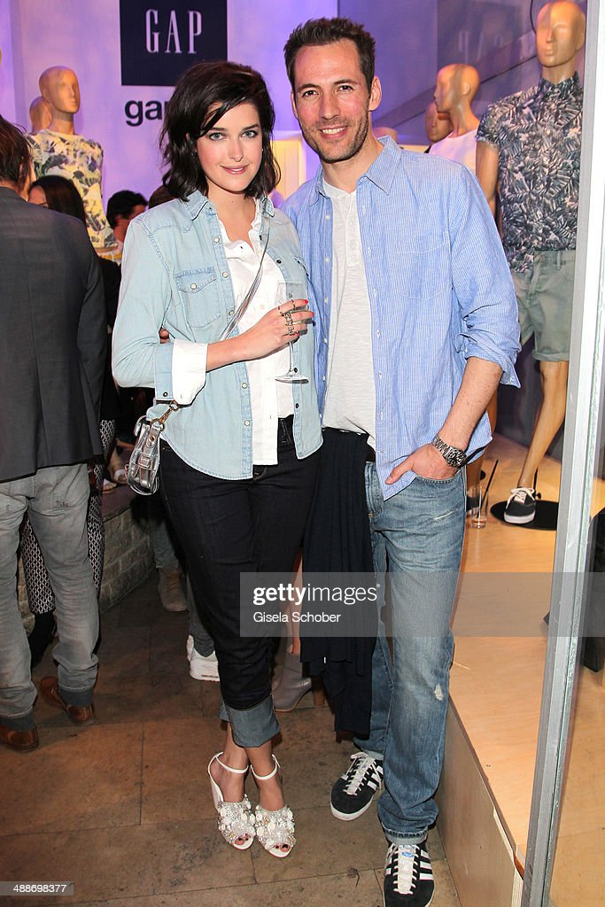 Marie Nasemann and Alexander Mazza attend the GAP Pop-Up Shop Opening on May 7, 2014 in Munich, Germany.