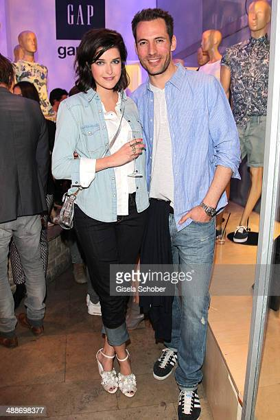 Marie Nasemann and Alexander Mazza attend the GAP PopUp Shop Opening on May 7 2014 in Munich Germany