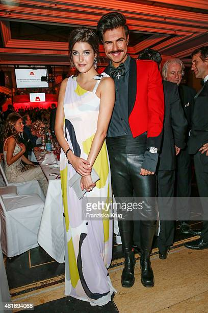 Marie Nasemann and Andre Borchers attend the German Film Ball 2015 on January 17 2015 in Munich Germany