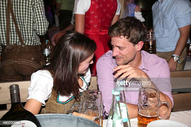 Marie Nasemann and company during the Oktoberfest 2015 at Kaeferschaenke at Theresienwiese on September 26 2015 in Munich Germany