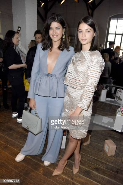 Marie Nasemann and Lisa-Marie Koroll during the Marina Hoermanseder Defile during 'Der Berliner Salon' AW 18/19 at Von Greifswald on January 18, 2018...