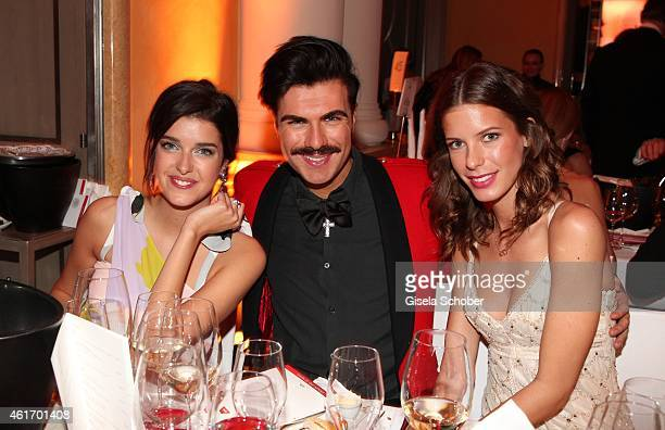 Marie Nasemann Andre Borchers Julia Trainer during the German Filmball 2015 at Hotel Bayerischer Hof on January 17 2015 in Munich Germany