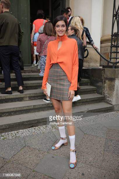 Marie Nasemann attends the Nobi Talai fashion show during the Berlin Fashion Week Spring/Summer 2020 at Parochialkirche on July 04 2019 in Berlin...