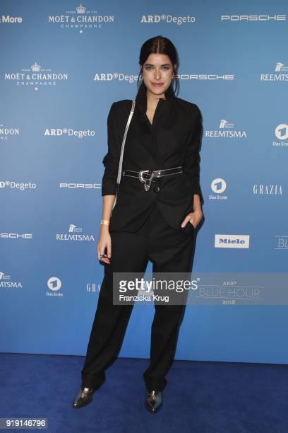 Marie Nasemann attends the Porsche at Blue Hour Party hosted by ARD during the 68th Berlinale International Film Festival Berlin at Museum fuer...