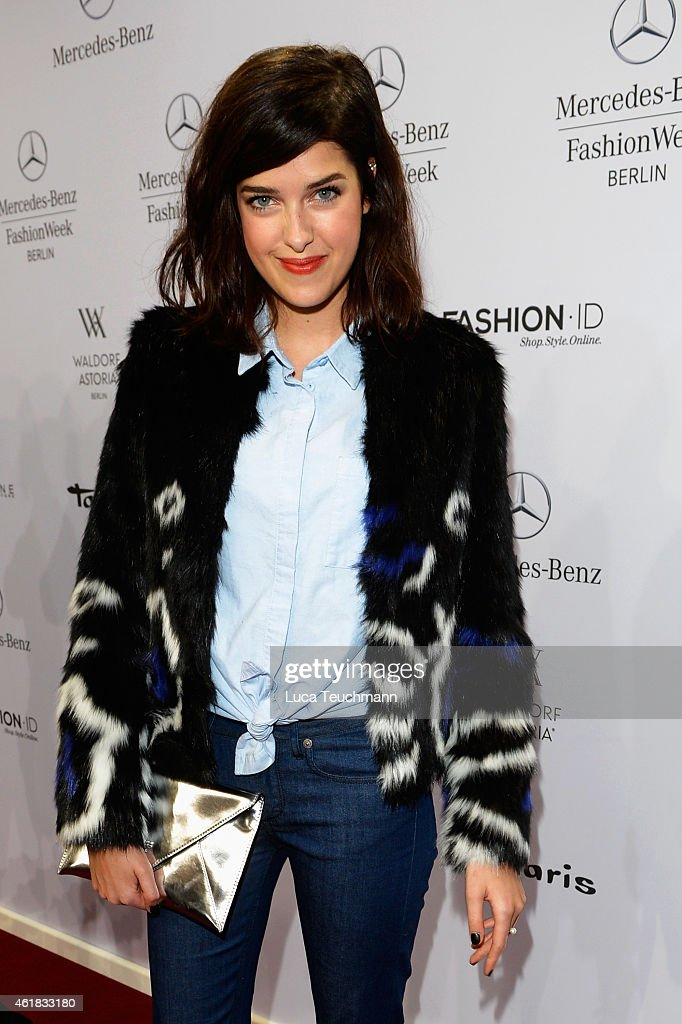 Marie Nasemann attends the Riani show during the Mercedes-Benz Fashion Week Berlin Autumn/Winter 2015/16 at Brandenburg Gate on January 20, 2015 in Berlin, Germany.