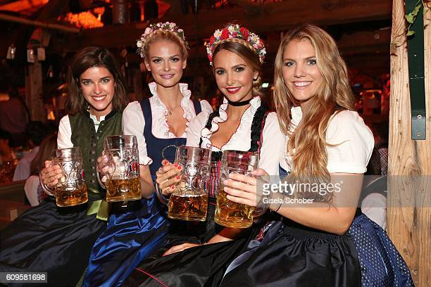 Marie Nasemann Darya Strelnikova Sophie Hermann model and stepdaughter of Uschi Glas and Viviane Geppert attend the 'Beauty Beee girls only Wiesn' in...