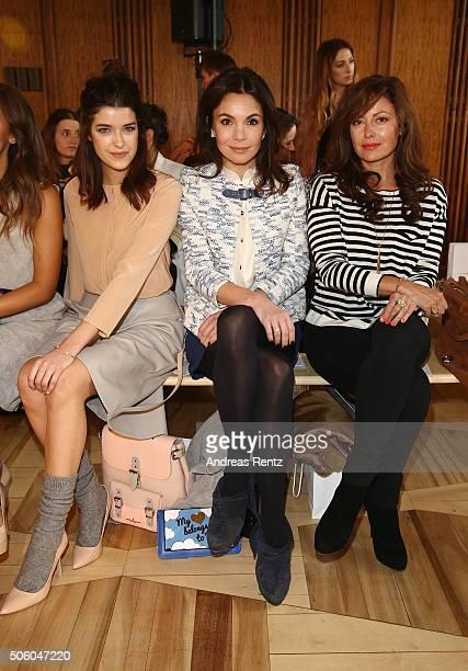 Marie Nasemann Nadine Warmuth and Carolina Vera Squella attend the Marina Hoermanseder show as part of Der Berliner Mode Salon during the...