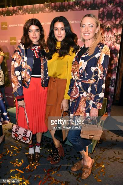 Marie Nasemann Rebecca Mir and Prinzessin Lilly SaynWittgenstein during the Maison Chic event at KONEN on August 30 2017 in Munich Germany
