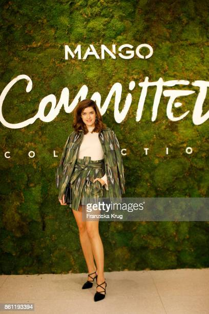 Marie Nasemann wearing Mango attends the Mango Committed Collection PreLaunch at Mango Store on October 12 2017 in Hamburg Germany