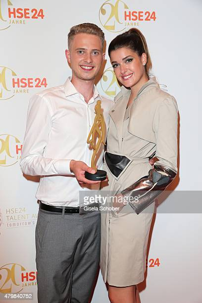 Marie Nasemann Winner HSE24 Talent Award Lars Harre during the 20 year anniversary event of the home shopping channel HSE24 at Ziegelei on July 7...